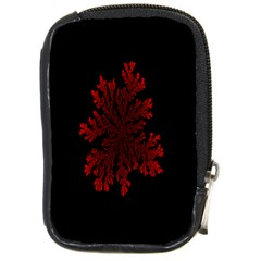 Dendron Diffusion Aggregation Flower Floral Leaf Red Black Compact Camera Cases by Mariart