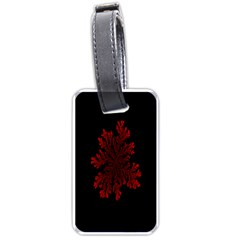 Dendron Diffusion Aggregation Flower Floral Leaf Red Black Luggage Tags (two Sides) by Mariart