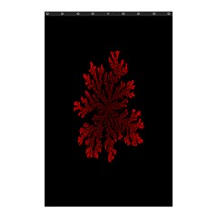Dendron Diffusion Aggregation Flower Floral Leaf Red Black Shower Curtain 48  X 72  (small)  by Mariart