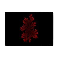 Dendron Diffusion Aggregation Flower Floral Leaf Red Black Apple Ipad Mini Flip Case by Mariart