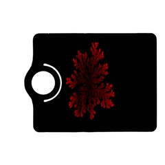 Dendron Diffusion Aggregation Flower Floral Leaf Red Black Kindle Fire Hd (2013) Flip 360 Case by Mariart