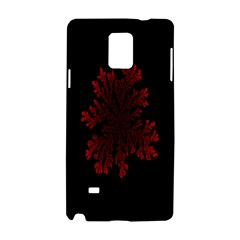 Dendron Diffusion Aggregation Flower Floral Leaf Red Black Samsung Galaxy Note 4 Hardshell Case by Mariart