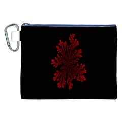Dendron Diffusion Aggregation Flower Floral Leaf Red Black Canvas Cosmetic Bag (xxl) by Mariart