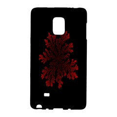 Dendron Diffusion Aggregation Flower Floral Leaf Red Black Galaxy Note Edge by Mariart