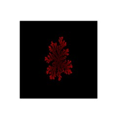 Dendron Diffusion Aggregation Flower Floral Leaf Red Black Satin Bandana Scarf by Mariart