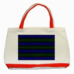 Diamond Alt Blue Green Woven Fabric Classic Tote Bag (red) by Mariart