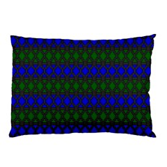 Diamond Alt Blue Green Woven Fabric Pillow Case by Mariart