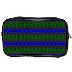 Diamond Alt Blue Green Woven Fabric Toiletries Bags 2 Side by Mariart