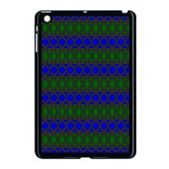 Diamond Alt Blue Green Woven Fabric Apple Ipad Mini Case (black) by Mariart