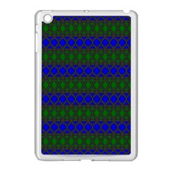 Diamond Alt Blue Green Woven Fabric Apple Ipad Mini Case (white) by Mariart