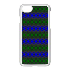 Diamond Alt Blue Green Woven Fabric Apple Iphone 7 Seamless Case (white) by Mariart