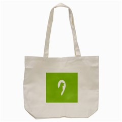 Dog Green White Animals Tote Bag (Cream) by Mariart