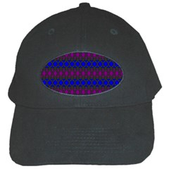Diamond Alt Blue Purple Woven Fabric Black Cap by Mariart