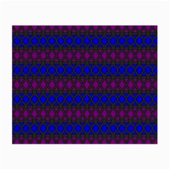 Diamond Alt Blue Purple Woven Fabric Small Glasses Cloth (2 Side) by Mariart