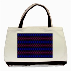 Diamond Alt Blue Purple Woven Fabric Basic Tote Bag (two Sides) by Mariart