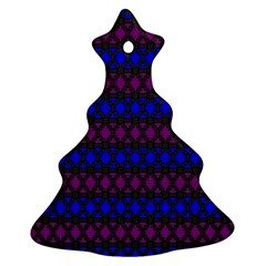 Diamond Alt Blue Purple Woven Fabric Christmas Tree Ornament (two Sides) by Mariart