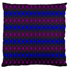 Diamond Alt Blue Purple Woven Fabric Large Cushion Case (two Sides) by Mariart