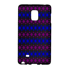 Diamond Alt Blue Purple Woven Fabric Galaxy Note Edge by Mariart