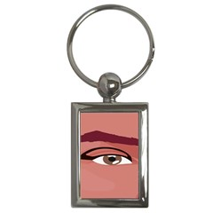 Eye Difficulty Red Key Chains (rectangle)  by Mariart