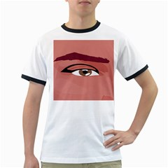 Eye Difficulty Red Ringer T Shirts by Mariart
