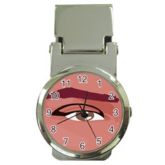 Eye Difficulty Red Money Clip Watches by Mariart