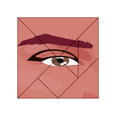 Eye Difficulty Red Acrylic Tangram Puzzle (4  X 4 ) by Mariart