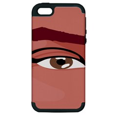 Eye Difficulty Red Apple Iphone 5 Hardshell Case (pc+silicone) by Mariart