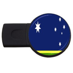 Flag Star Blue Green Yellow Usb Flash Drive Round (2 Gb) by Mariart