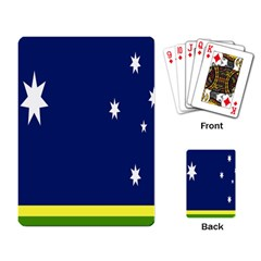 Flag Star Blue Green Yellow Playing Card by Mariart