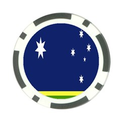 Flag Star Blue Green Yellow Poker Chip Card Guard by Mariart