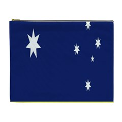 Flag Star Blue Green Yellow Cosmetic Bag (xl) by Mariart