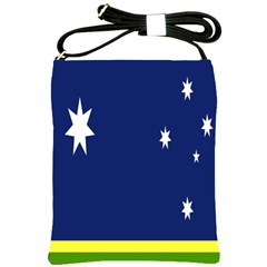 Flag Star Blue Green Yellow Shoulder Sling Bags by Mariart
