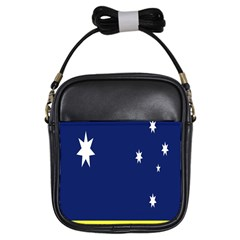 Flag Star Blue Green Yellow Girls Sling Bags by Mariart