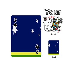 Flag Star Blue Green Yellow Playing Cards 54 (mini)  by Mariart