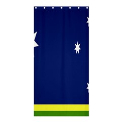 Flag Star Blue Green Yellow Shower Curtain 36  X 72  (stall)  by Mariart