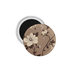 Floral Flower Rose Leaf Grey 1 75  Magnets by Mariart