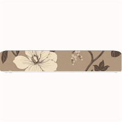 Floral Flower Rose Leaf Grey Small Bar Mats by Mariart