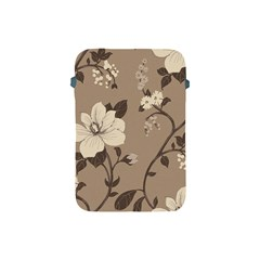 Floral Flower Rose Leaf Grey Apple Ipad Mini Protective Soft Cases by Mariart