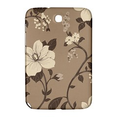 Floral Flower Rose Leaf Grey Samsung Galaxy Note 8 0 N5100 Hardshell Case  by Mariart