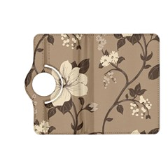 Floral Flower Rose Leaf Grey Kindle Fire Hd (2013) Flip 360 Case by Mariart