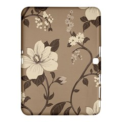 Floral Flower Rose Leaf Grey Samsung Galaxy Tab 4 (10 1 ) Hardshell Case  by Mariart