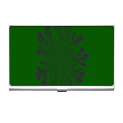 Dendron Diffusion Aggregation Flower Floral Leaf Green Purple Business Card Holders by Mariart