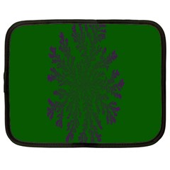 Dendron Diffusion Aggregation Flower Floral Leaf Green Purple Netbook Case (xl)  by Mariart