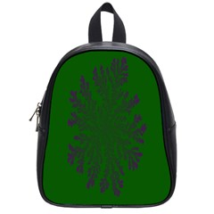 Dendron Diffusion Aggregation Flower Floral Leaf Green Purple School Bags (small)  by Mariart