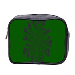 Dendron Diffusion Aggregation Flower Floral Leaf Green Purple Mini Toiletries Bag 2 Side by Mariart