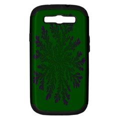 Dendron Diffusion Aggregation Flower Floral Leaf Green Purple Samsung Galaxy S Iii Hardshell Case (pc+silicone) by Mariart