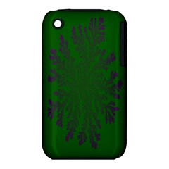 Dendron Diffusion Aggregation Flower Floral Leaf Green Purple Iphone 3s/3gs by Mariart