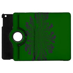 Dendron Diffusion Aggregation Flower Floral Leaf Green Purple Apple Ipad Mini Flip 360 Case by Mariart