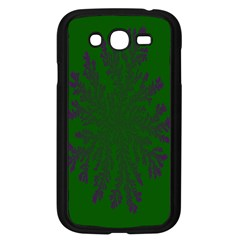 Dendron Diffusion Aggregation Flower Floral Leaf Green Purple Samsung Galaxy Grand Duos I9082 Case (black) by Mariart