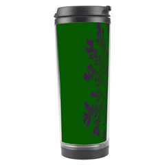 Dendron Diffusion Aggregation Flower Floral Leaf Green Purple Travel Tumbler by Mariart